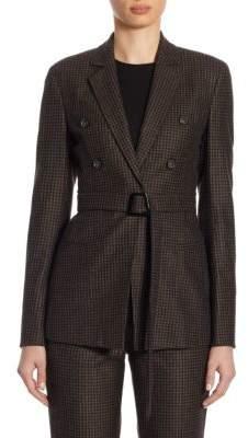Akris Legend Wool Fine Plaid Jacket