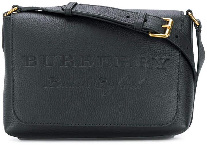 Burberry embossed messenger bag