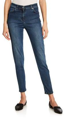 St. John Stretch Denim Slim Ankle Jeans