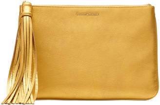 Dooney & Bourke Metallic Leather Large Carrington Pouch