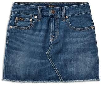 Ralph Lauren Girls' Denim Skirt - Big Kid