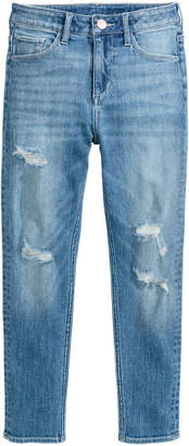 H&M Relaxed Worn Jeans - Blue