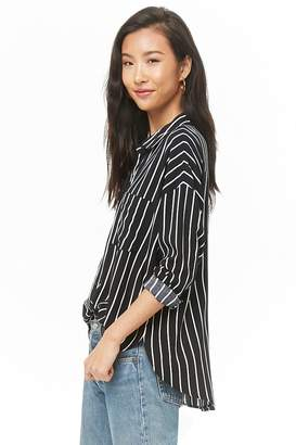 Forever 21 Striped Button-Front Shirt