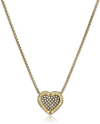 "Michael Kors Status Logo Heart Pendant Necklace, 16"" + 2"" Extender"