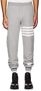 Thom Browne Men's Block-Striped Cotton Jogger Pants-Light Gray