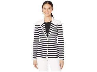 Lauren Ralph Lauren Striped Cotton-Blend Blazer