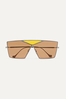 Loewe Puzzle Large Aviator-style Gunmetal-tone Sunglasses - Brown