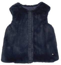 Lili Gaufrette Little Girl's& Girl's Faux Fur Vest