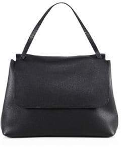The Row Leather Top-Handle 14 Satchel