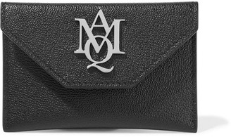 Alexander McQueen - Insignia Textured-leather Cardholder - Black $245 thestylecure.com