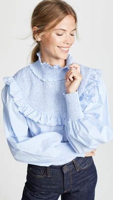 ENGLISH FACTORY Smocked Top