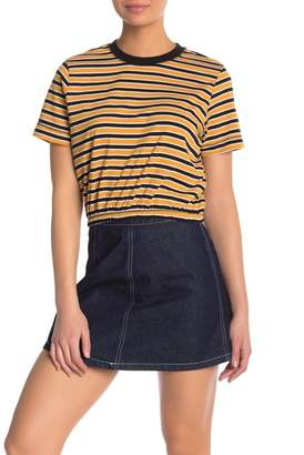 Cotton On & Co. Ivy Striped Elastic Waist Crop Top