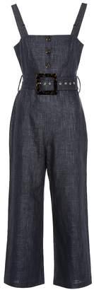 STAUD Bay linen-blend wide-leg jumpsuit