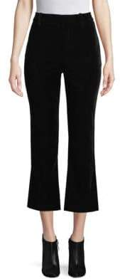 Derek Lam 10 Crosby Velvet Cropped Flare Pants