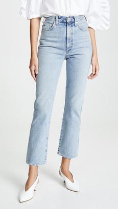 A Gold E Agolde High Rise Kick Pinch Waist Jeans