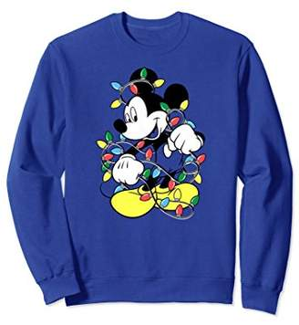 Disney Mickey Mouse Christmas LIghts Sweatshirts