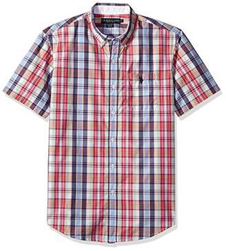 U.S. Polo Assn. Men's Short Sleeve Classic Fit Plaid Shirt