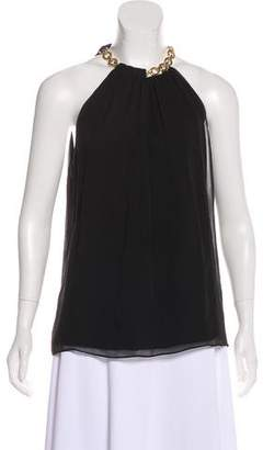 Diane von Furstenberg Pleated Halter Top