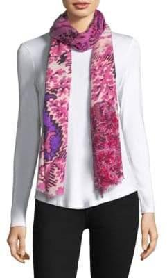 Bindya Silk Cashmere Floral Scarf