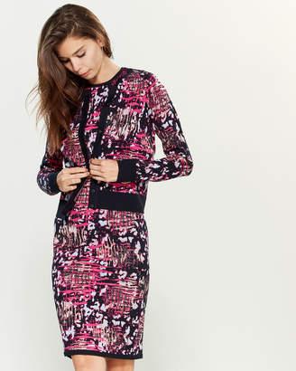 Versace Mixed Pattern Long Sleeve Cardigan