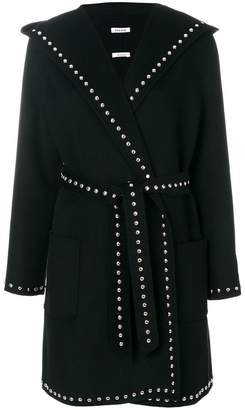 P.A.R.O.S.H. belted stud coat