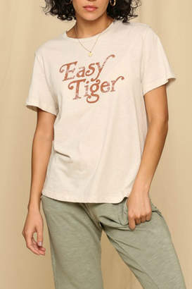 """By Together """"Easy Tiger"""" Heavy cotton jersey short sleeve T shirt"""