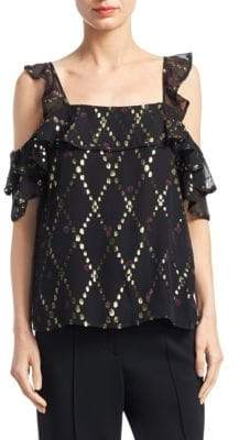 A.L.C. Willow Cold-Shoulder Blouse
