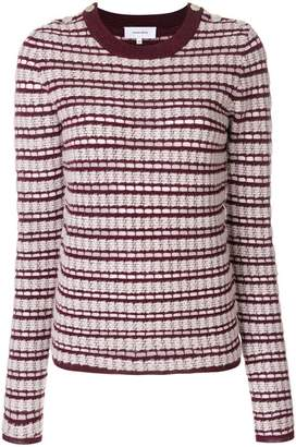 Carven striped crew neck jumper