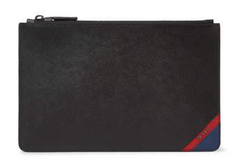 Prada Colour-Block Saffiano Leather Pouch