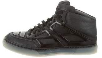 Alejandro Ingelmo Leather High-Top Sneakers
