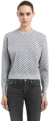 Balenciaga Logo Lurex Jacquard Sweater