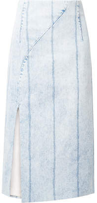 ADAM by Adam Lippes Corded Denim Midi Skirt - Light denim