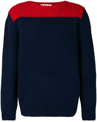 Marni ribbed colour block sweater
