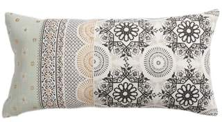 Moroccan Print Accent Pillow