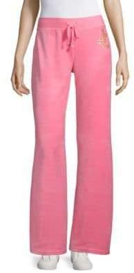 Juicy Couture Wide-Leg Velour Track Pants