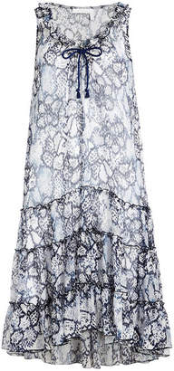 See by Chloe Flower Python Printed Dress in Cotton and Silk