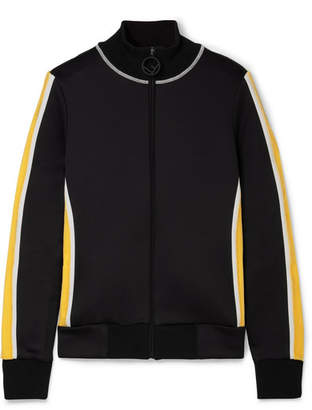 Fendi Roma Printed Velvet-trimmed Stretch-ponte Jacket