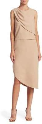 Halston Drape Front Sheath Dress