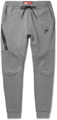 Nike Slim-Fit Tapered Cotton-Blend Tech Fleece Sweatpants $100 thestylecure.com