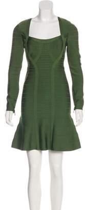 Herve Leger Rita Bandage Dress Green Rita Bandage Dress
