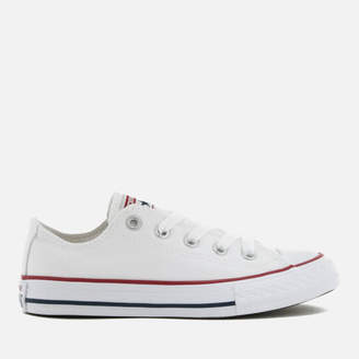 d7adaea9ed0f Converse Kids  Chuck Taylor All Star Ox Trainers - Optical White