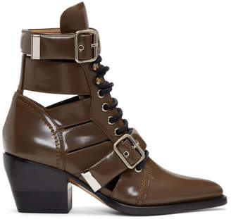 Chloé Brown Rylee Strap Boots