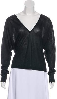 Andrew Gn Semi-Sheer Long Sleeve Top