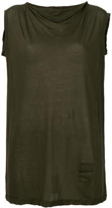 Rick Owens loose fit sleeveless T-shirt