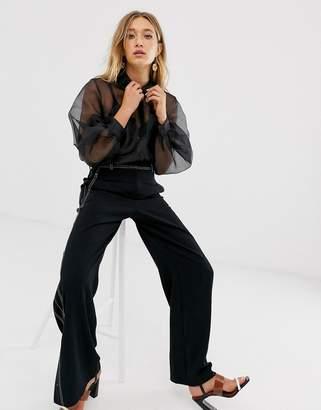 Asos Design DESIGN organza long sleeve shirt