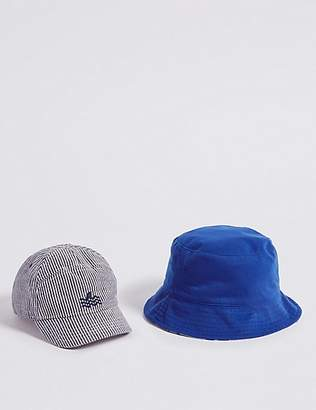 Marks and Spencer Kids' 2 Pack Summer Hats (3 Months - 6 Years)