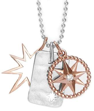 One and One Studio - Sterling Silver & Rose Gold Star Pendant Set