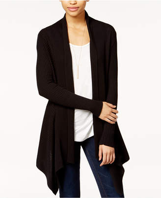Bar III Ribbed Waterfall Cardigan