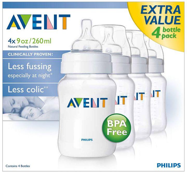 Avent Naturally 4-pk. bpa-free classic feeding bottles - 9 oz.
