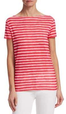 Majestic Filatures Linen Stripe Top